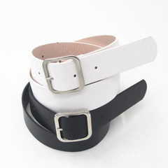 Belts Women's Leisure Jeans Belt Four Principles Buckle Belt Women's Decorative Fashion Women's Belt black