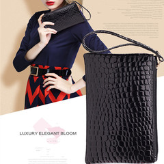 Handbags Ladies Pu Wallet Ladies Mobile Phone Bag Women Crocodile Pattern Handbag Women black normal