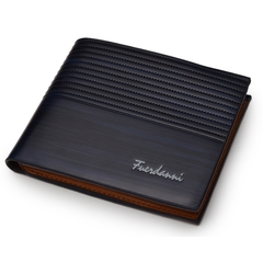 Wallets Men High Quality Vintage Men Wallet-Leather Luxury Short Male Clutch Wallet blue normai