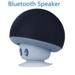 Bluetooth Speaker Mushroom Style Wireless Music Bluetooth Speakers Mini Speaker With Suction Cup black normal