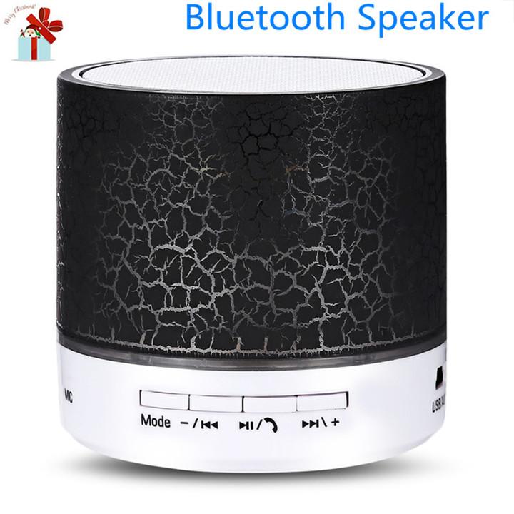 Bluetooth Speaker Bars Speakers Flash LED Night Light TF Card FM AUX Input Bluetooth Speake Speakers black normal