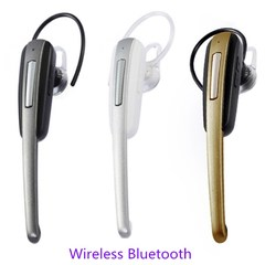 Bluetooth Earphones HM1000 Litchi Ear-hanging 4.1 Motion Stereo Bluetooth Headset black and gold normal