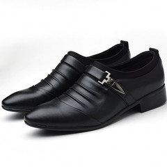 Formal Leather Shoes Men Business Leisure Men's Leather Shoes British Top Leather Shoes For Men black 39