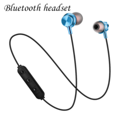 Bluetooth Headset Sports Wireless Bluetooth Earphone Headset Bass Stereo Running Headphone blue normal