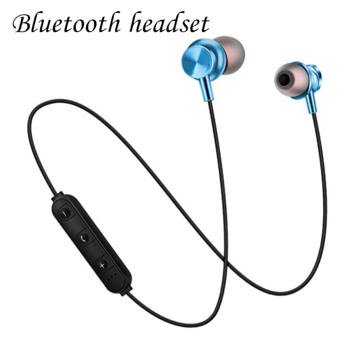 Bluetooth Headset Sports Wireless Bluetooth Earphone Headset Bass Stereo Running Headphone blue normal
