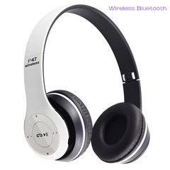 Bluetooth Headset Bluetooth Earphone Wireless Bluetooth Headset Heavy Bass Headset white normal