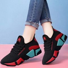 Shoes Women Shoes Ladies Athletic Women Breathable Cloth Shoes For Women Shoes For Ladies red 36