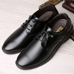 Leather Shoes Men Formal Men's Leather Shoes British Business Casual Shoes Wedding Shoes For Men black 39