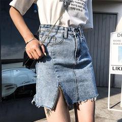 Casual Summer Jeans Skirt Women High Waist A-line Mini Pencil Denim Skirts Button Short Jean Skirts 1 s