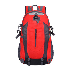 Men and Women New Fashion Waterproof Mountaineering Bag Outdoor Sports and Leisure Backpackes red Unisex