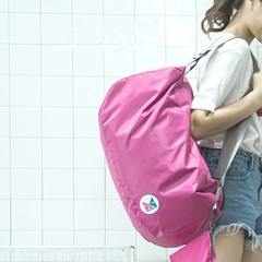 Foldable sports bag breathable ultra light backpack outdoor sports mountaineering bag pink 57*27*27cm
