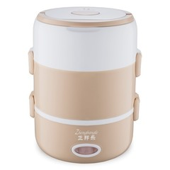 Multi-function portable electric lunch box three-layer heating insulated lunch box can be plugged in Khaki single layer