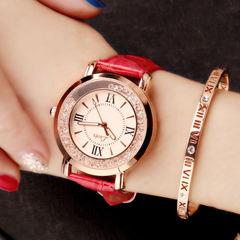 Women Fashion Watch Diamond Star Jewelry Watch Quartz Waterproof Trend Watches red