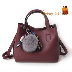 Gobuy New Luxury women 2pcs handbag set, Hot sales! Buy one get one free big shoulderbag red as picture