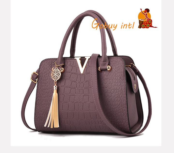 【Gobuy】Hot sales! Luxury women handbag and shoulder bag , office and causal  bag purple as picture