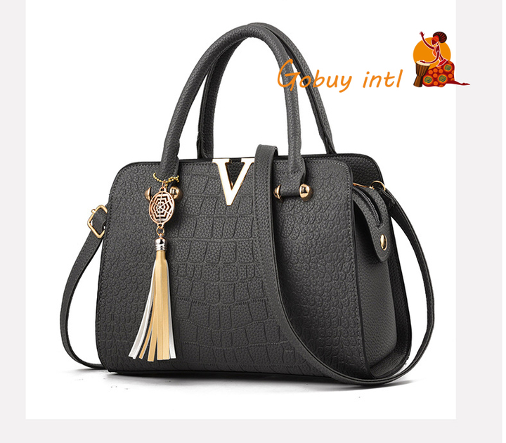 【Gobuy】Hot sales! Luxury women handbag and shoulder bag , office and causal  bag gray as picture