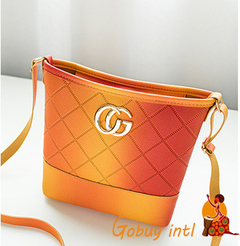 【Gobuy】Lady Summer Soft leather Lady Handbag, Korean style women colorful  shoulder bag orange as picture