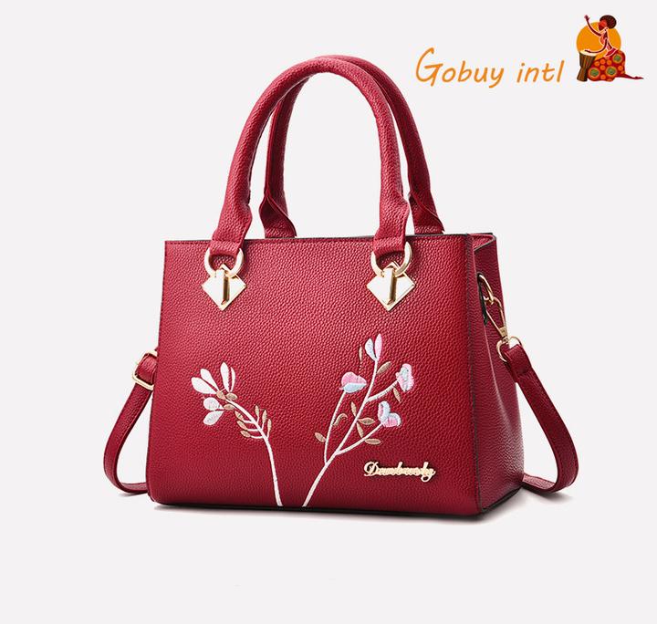 【Gobuy】Unqine Sales! Graceful lady handbag 7 shoulder bag, office daily bag big capacity red 26*14*19cm