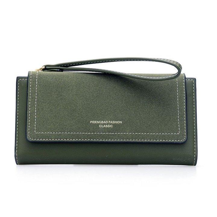 【Gobuy】New arrival! Graceful lady long design folder wallet and handbag, evening part handbags green 10*19*2cm