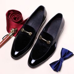 Brand Designer Shoes Luxury Brand 2019 Wedding Shoes Men's Fashion Shoes Leather Men's Suits black 40