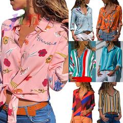 30Kinds Stripe Long Sleeve Shirt ladies dresses shirt Cardigan Sweaters Leisure & Office ladies tops 1 s