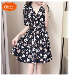 New specials, promotions, buying, limited purchase of 2 pieces, broken flower dresses black S