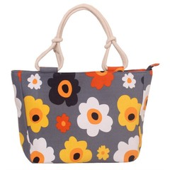 Fashion Women Big Size Handbag Tote Ladies Casual Flower Printing Canvas Graffiti Shoulder Bag 2# 36*13*30CM