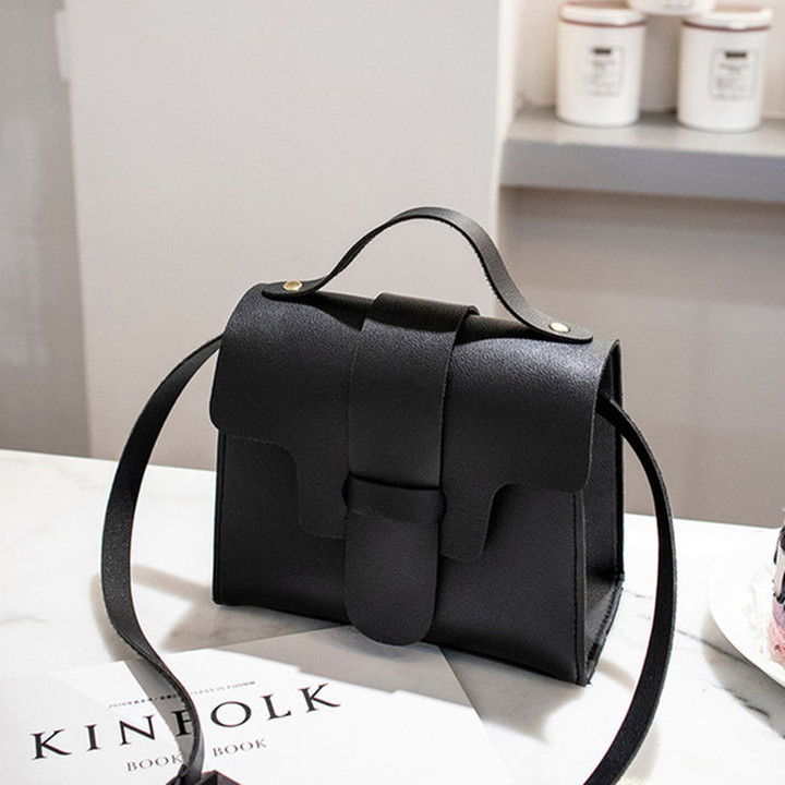 Casual Small Crossbody Bags for Women 2019 Design Women PU Leather Handbags Messenger Bolso Mujer Black 17*13.5*9CM