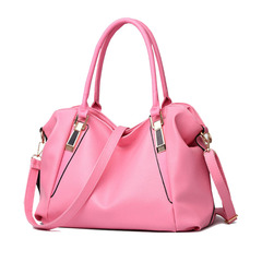 Fashion Soft Handbags One-shoulder Oblique Handbag, New Promotions in 2019, Low-Price Crazy Purchase Pink 37*16*23cm/Portable 19CM