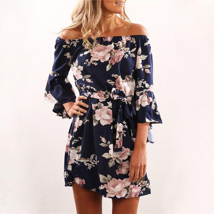 Elegant Lace Dress Women Long Sleeve Off Shoulder Sexy Slim Party Clubwear Dress Female  Vestido Purple 3XL 14