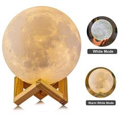 3D Print Moon Lamp Globe Lamp LED Night Light for Home Christmas Decoration Children Gift White 10CM diameter 5V