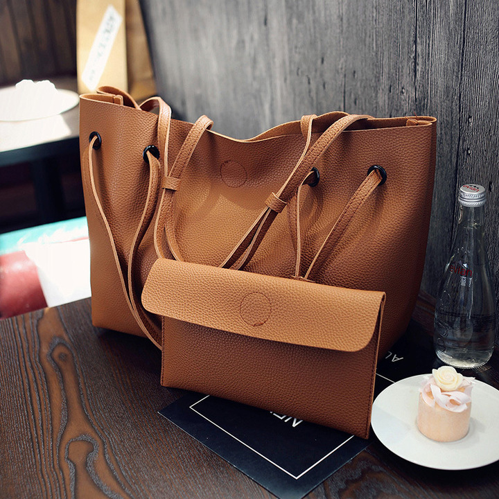 2019 New Women Handbags, Simple Fashion Flap, Trend Tassel Woman Messenger Bag, Shoulder Bag Gray 22*10*17CM 15