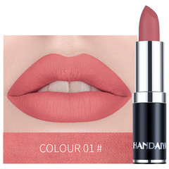 Waterproof Nude Matte Lipstick Lasting Moisturizing Velvet Lip Stick 12 Colors Makeup Beauty Lips 01#
