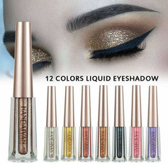 Fashion Waterproof Glitter Eye Shadow 12 Colors Bright Eyeshadow liquid Long Lasting Makeup 01#