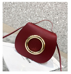 Fashion Women Lnclined Span Handbag simple PU Leather Crossbody Shoulder Tote Ladies Party Bag Cheap Red 18*6*15CM