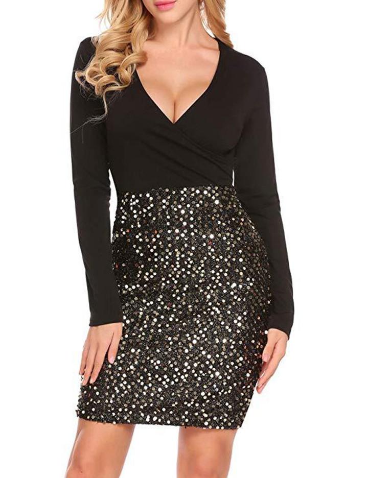 Elegant Lace Dress Women Long Sleeve Off Shoulder Sexy Slim Party Clubwear Dress Female  Vestido Purple 3XL 2