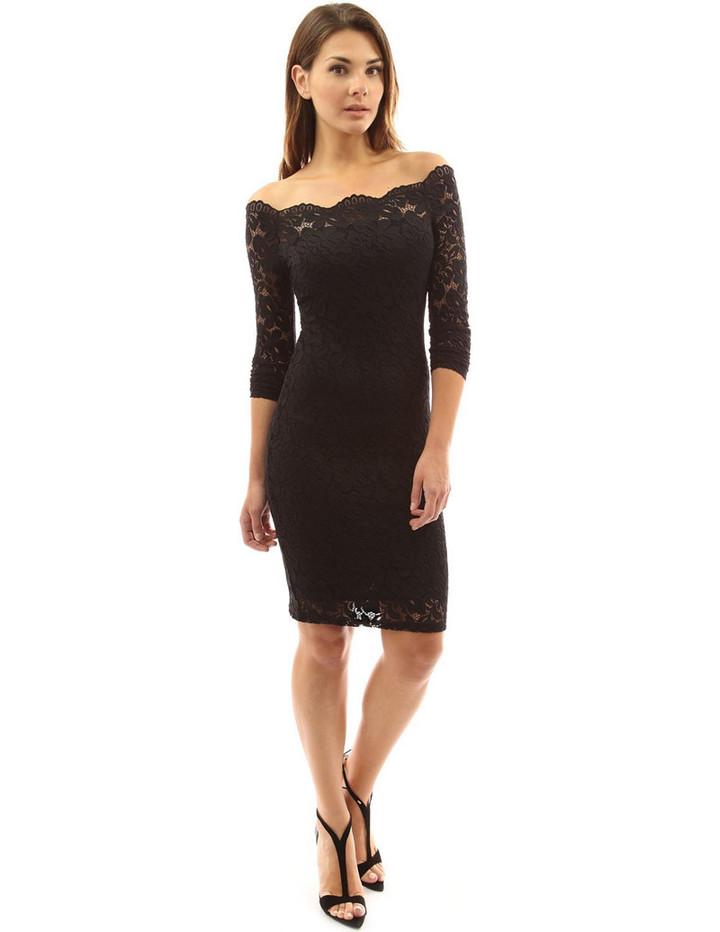 Elegant Lace Dress Women Long Sleeve Off Shoulder Sexy Slim Party Clubwear Dress Female  Vestido Purple 3XL 1