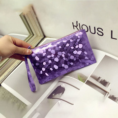 New Women Bright leather Bag Mini Shoulder Purse Ladies Crossbody Bag Hand Holding Package Low Price Purple 20*1.3*11CM