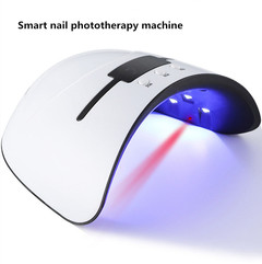 36W Nail Dryer LED/UV Gel Polish Dryer Nail Phototherapy Machine 30s/60s/99s Timer with LED Display White