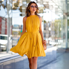Summer Dress Women Lace Chiffon Pleated​ Off Dresses Sexy Strapless Stree Party Dressed Yellow S