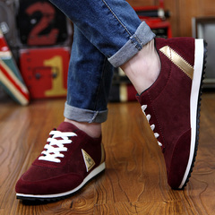 Lightweight Fashion Casual Breathable Male Sneakers Lace-up ,Lovers Shoes, Sports Flat Shoes Red 39