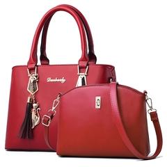 Women Bag Fashion Contain Two Packages Luxury Handbag Designer Shoulder Bags Composite Bag Bolsos Red 21*13*30M