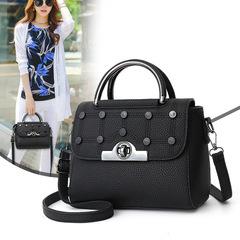 High Quality Messenger Bag Women PU Leather Handbags Luxury Female Shoulder Bags Designer Flap Bags Black 23*17*12CM
