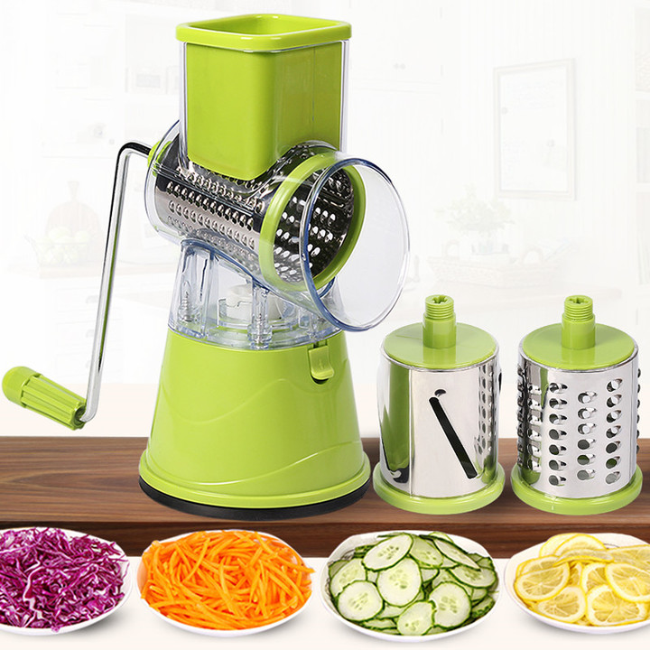 Manual Vegetable Cutter Slicer Kitchen Multifunctional Round Mandoline Slicer Potato Kitchen Gadgets Green 120*240CM