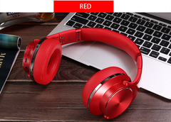 New MH5 Bluetooth external headphones wireless folding call stereo SODO headset NFC headset speakers red
