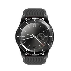 2019 G8 smart watch HD round screen multi-mode heart rate blood pressure monitoring card phone call black