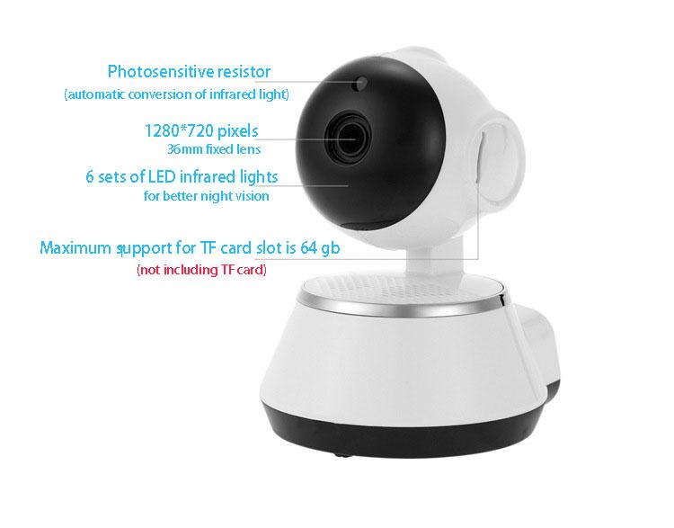 2019 HD 720P V380 housekeeping artifact wireless camera home wifi network 13