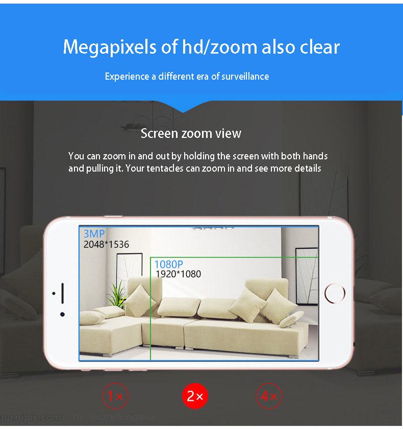 2019 HD 720P V380 housekeeping artifact wireless camera home wifi network 11