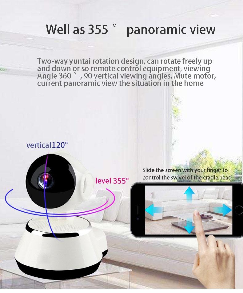 2019 HD 720P V380 housekeeping artifact wireless camera home wifi network 8