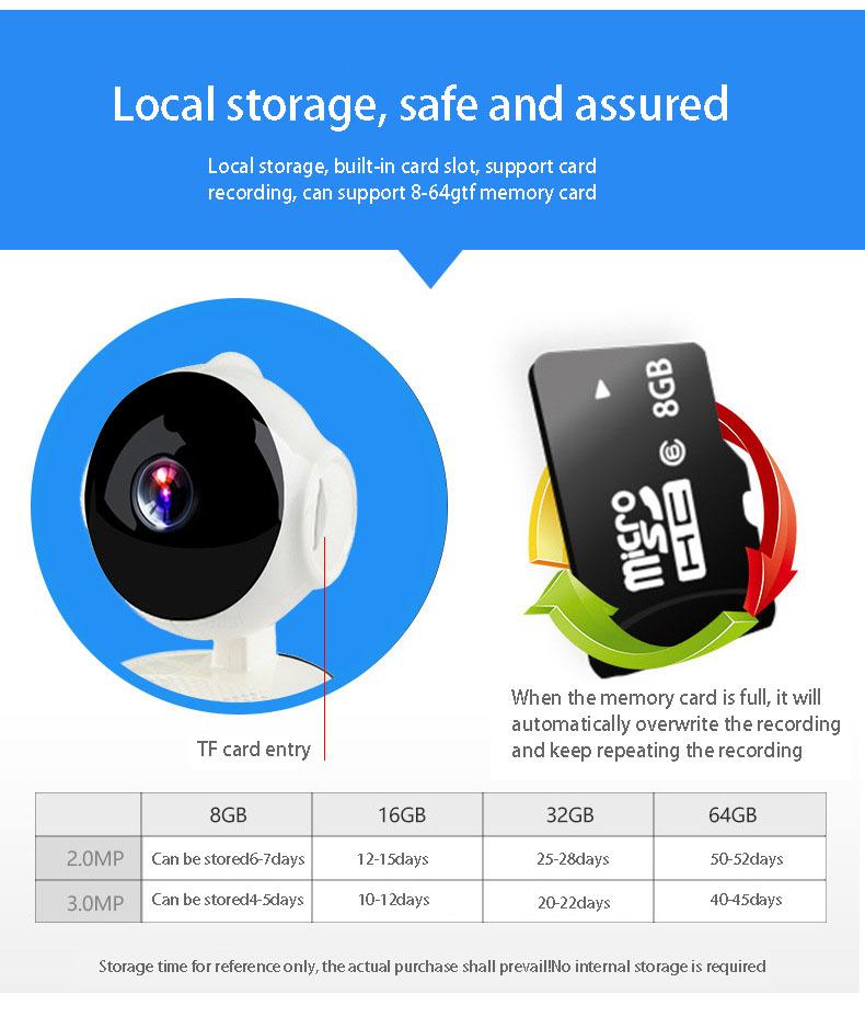 2019 HD 720P V380 housekeeping artifact wireless camera home wifi network 9